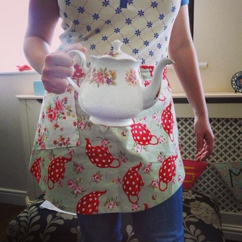 New apron, old teapot